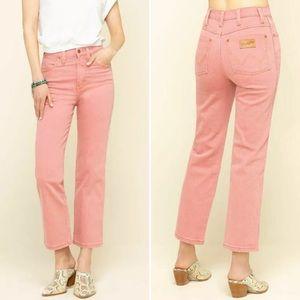 Wrangler 360 Pink Rose Heritage Straight Leg Jeans